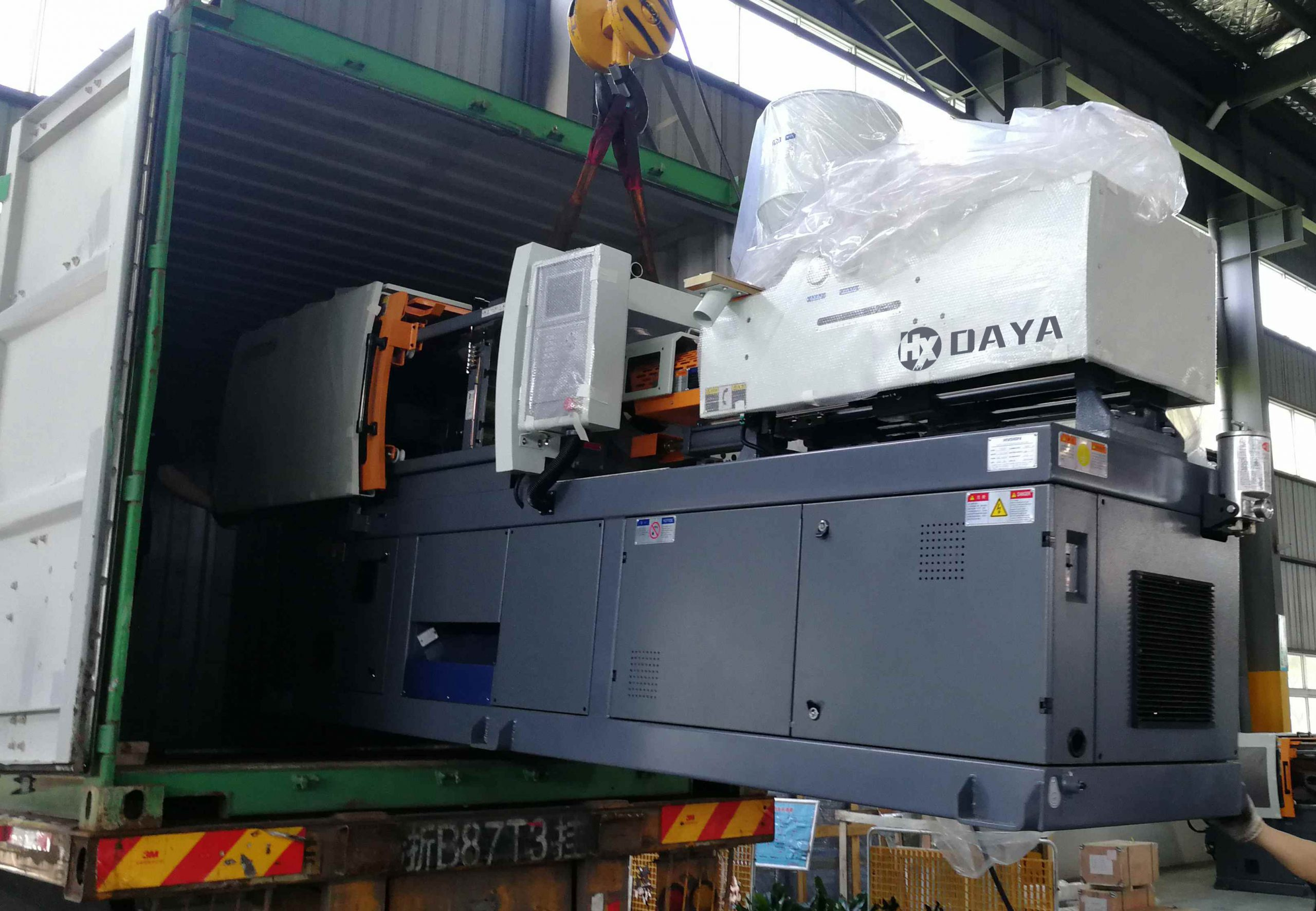 130 ton injection molding machine shipment and delivery